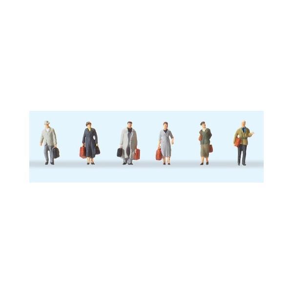 Preiserプライザー79219旅行者 Nゲージ人形  塗装済み  ジオラマ小物  ネコポス可