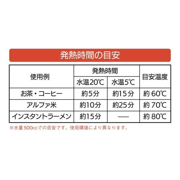 防災グッズ 湯沸しBOX(発熱剤3個入り) 湯沸かし 発熱剤 加熱剤 災害対策 防災用品 災害時 非常用 角利産業 台風|wakui-shop|06