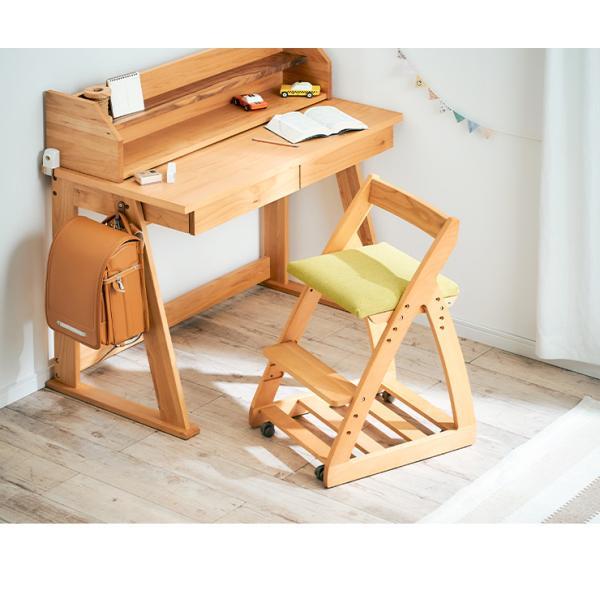 完成品/無垢材使用/高さ調整機能/キャスター付 国産 学習机椅子 木製 学習チェア 勉強椅子 椅子 LEO(レオ) 9色対応|wakuwaku-land|08