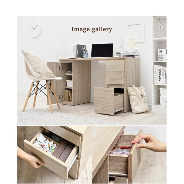 コンパクト リビングデスク 学習机 学習デスク パソコンデスク ユニットデスク kasuten(カステン) 幅120cm ナチュラル/ブラウン|wakuwaku-land|14