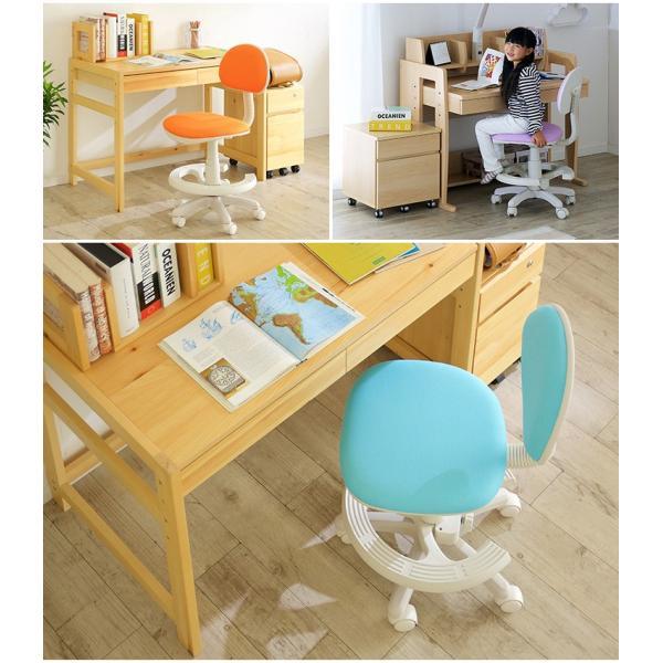 【当店オリジナルカラー追加】1年保証付き 椅子 昇降式 学習チェア 学習椅子 チェアー STEP(ステップ) 19色対応 ファブリック PVC wakuwaku-land 15