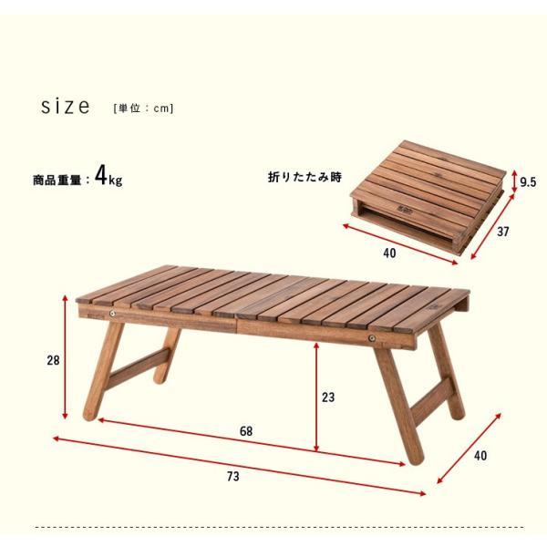 ガーデンテーブルセット ガーデンテーブル3点セット フォールディング テーブル&チェア 3点セット wakuwaku-land 02