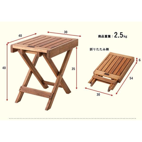 ガーデンテーブルセット ガーデンテーブル3点セット フォールディング テーブル&チェア 3点セット wakuwaku-land 03