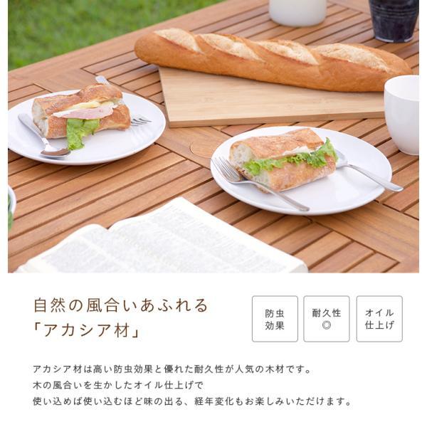 ガーデンテーブル テラステーブル レジャーテーブル 折りたたみテーブル 木製テーブル nino(ニノ)|wakuwaku-land|06
