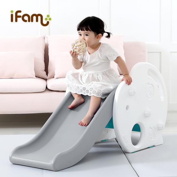 安全検査合格済 高さ2段階調整可能 ベビー 赤ちゃん おしゃれ おもちゃ プレゼント かわいい 海外 韓国 滑り台 知育玩具 ifam(アイファム) すべり台 アップル