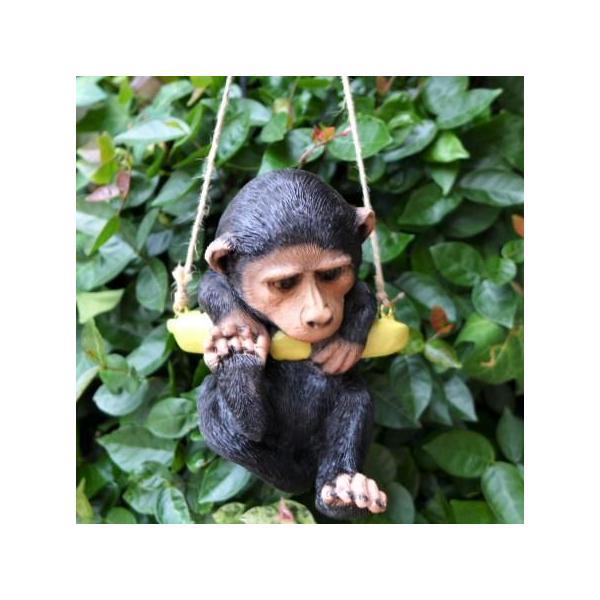 猿の置物 エンジョイブランコ さる 7347HT サル 猿 オーナメント オブジェ ガーデン ガーデニング インテリア マスコット アニマル 雑貨 デ