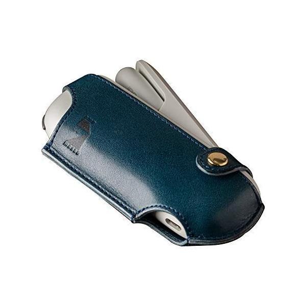 アムデマス IQOSケースカバー栃木レザー本革日本製電子タバコアイコスケース軽量シンプルIC-012ブルー