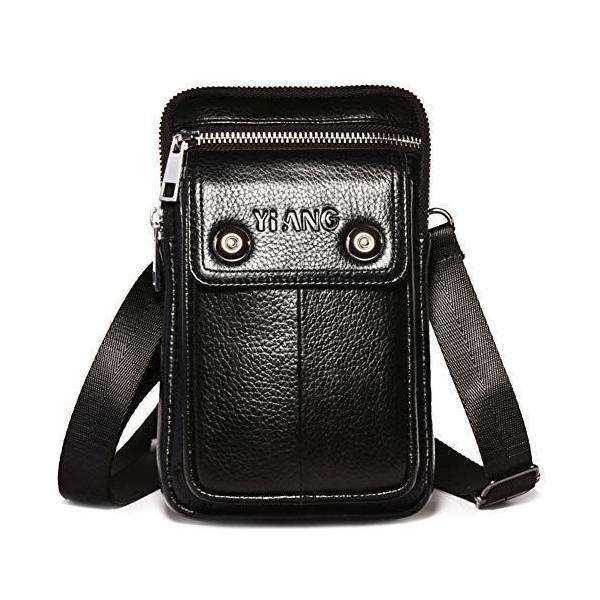 ウエストベルトバッグ3Wayスマホポーチタバコケースミニショルダーバッグ軽量男女兼用おしゃれコンパクトブラック