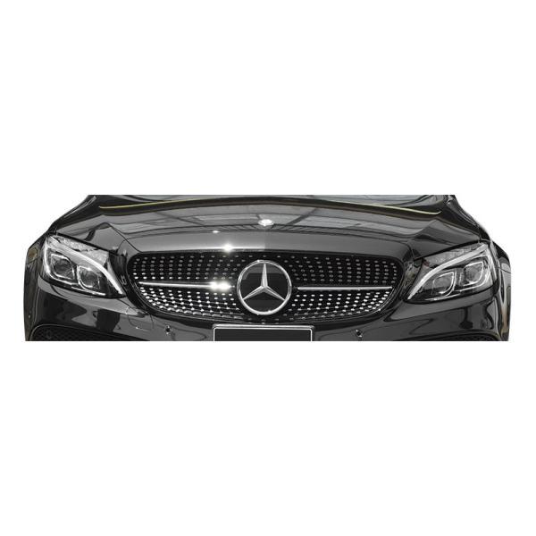 ダイヤモンドグリル Cクラス W205 '14y~ ブラック/クローム wald-online-store 02