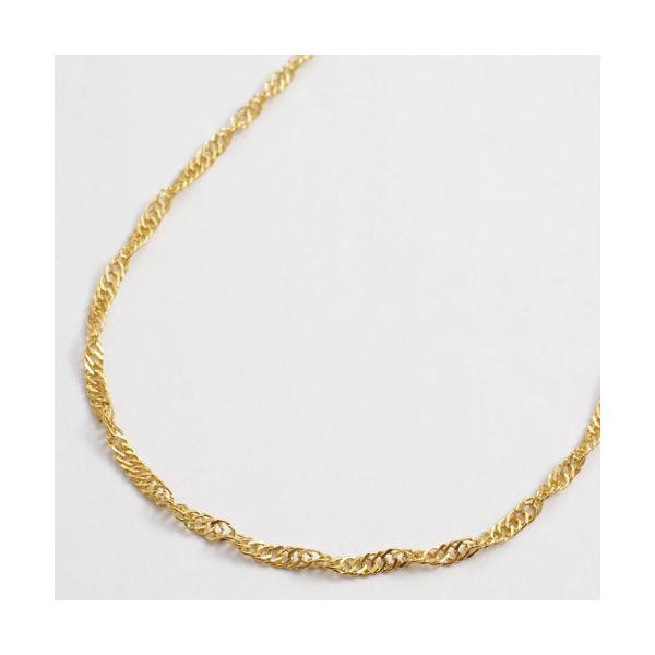 純金 ネックレス K24 スクリュー チェーン 50cm 6g