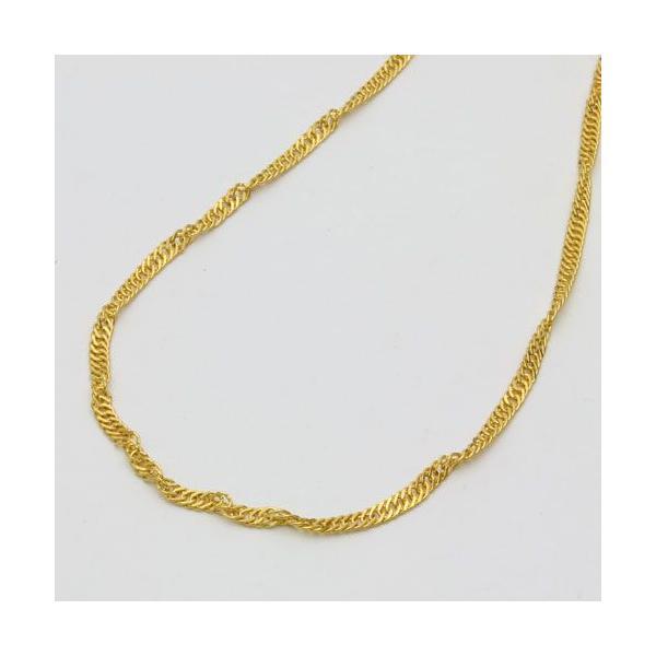 純金 ネックレス k24 スクリュー チェーン 42cm 10g 刻印 お洒落 レディース オシャレ プレゼント