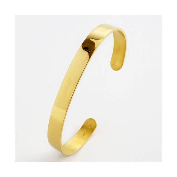 造幣局検定刻印入 男女兼用大人の純金 K24 無垢バングル 熟練職人による手作り仕上げ