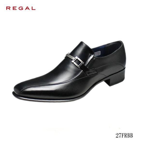 REGAL リーガル メンズ ビジネス ハイヒール仕様ビット 脚長効果 サイドゴム 2E 27FRBB