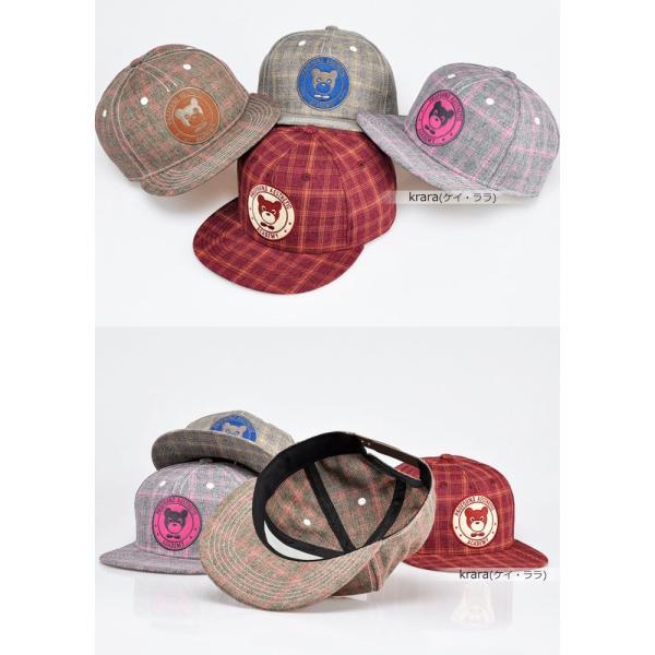 スナップバック キャップ レディース メンズ キュート ポップ ベア 帽子  ローキャップ ベースボールキャップ|wallstickershop|02