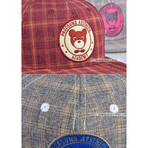 スナップバック キャップ レディース メンズ キュート ポップ ベア 帽子  ローキャップ ベースボールキャップ|wallstickershop|06