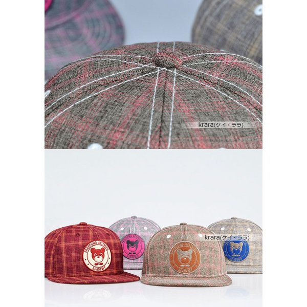 スナップバック キャップ レディース メンズ キュート ポップ ベア 帽子  ローキャップ ベースボールキャップ|wallstickershop|07