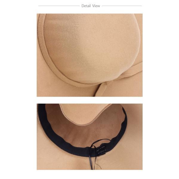 ハット つば広 リボン 女優帽 全7色 つば広 ウール リボン 中折れ ハット 女優帽キャップ レディース おしゃれ 日よけ帽子 日よけキャップ|wallstickershop|07