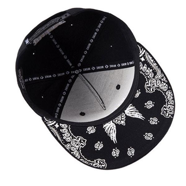 ペイズリー スナップバックキャップ スナップバック キャップ レディース キャップ メンズ キャップ ダンス スナップバック キャップ 帽子 ロゴ|wallstickershop|04