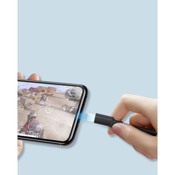 usbケーブル iPhone用 カラフル USBケーブル 1m iPhone用 スマホ充電ケーブル 断線しにくい 保護 丈夫 y2|wallstickershop|05