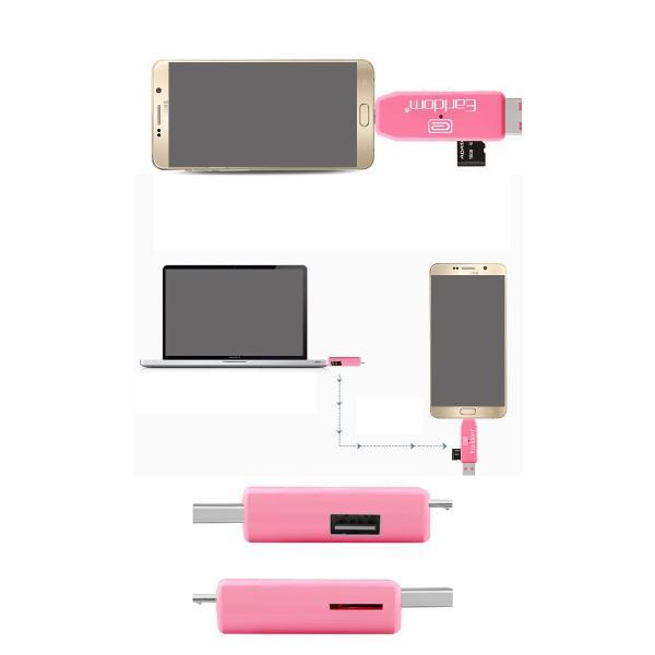 USBカードリーダー SDメモリーカードリーダー MiniSD OTG android アンドロイド スマホ タブレット usb ケーブル ホスト 変換 マウス接続 キーボード|wallstickershop|04