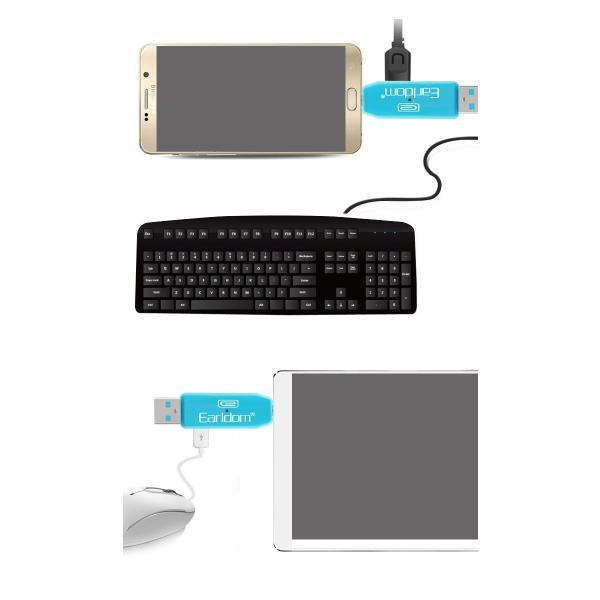 USBカードリーダー SDメモリーカードリーダー MiniSD OTG android アンドロイド スマホ タブレット usb ケーブル ホスト 変換 マウス接続 キーボード|wallstickershop|06