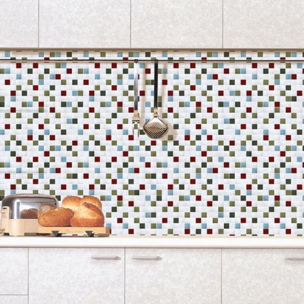 壁紙 のり付き 貼ってはがせる 幅50cm×30m単位 モザイクタイル シート モザイクタイルシール (壁紙 張り替え) DIY リフォーム 輸入壁紙 wallstickershop 05