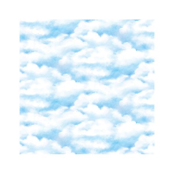 壁紙シール はがせる DIY 張り替え シート お得な6mセット のり付き 壁用 北欧 おしゃれ かわいい 空 クラウド わた雲 リフォーム 輸入壁紙|wallstickershop|04
