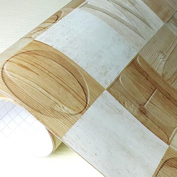 壁紙 木目 クロス 木目調 はがせる シール のり付き 壁用 エンボス 立体 壁紙シール 木目柄 リメイクシート (壁紙 張り替え) 30m単位 wallstickershop 05