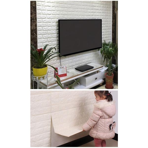 ブリック タイルシール 軽量レンガシール のりつき 壁紙シール (壁紙 張り替え) (壁紙 張り替え)|wallstickershop|09