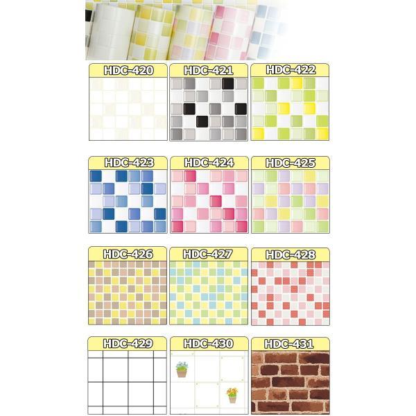壁紙 シール のり付き おしゃれ シールタイプ キッチン タイル 全12種類 厚手 リフォーム 貼ってはがせる (壁紙 張り替え)|wallstickershop|02