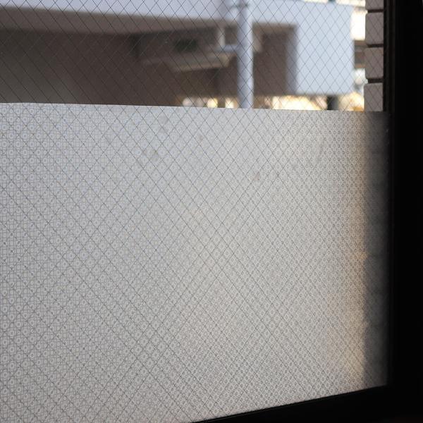 窓ガラス フィルム 外から見えない 窓 目隠しフィルム 幅90cm (mgch90-s009) はがせる おしゃれ 目隠しシート UVカット 飛散防止|wallstickershop|03