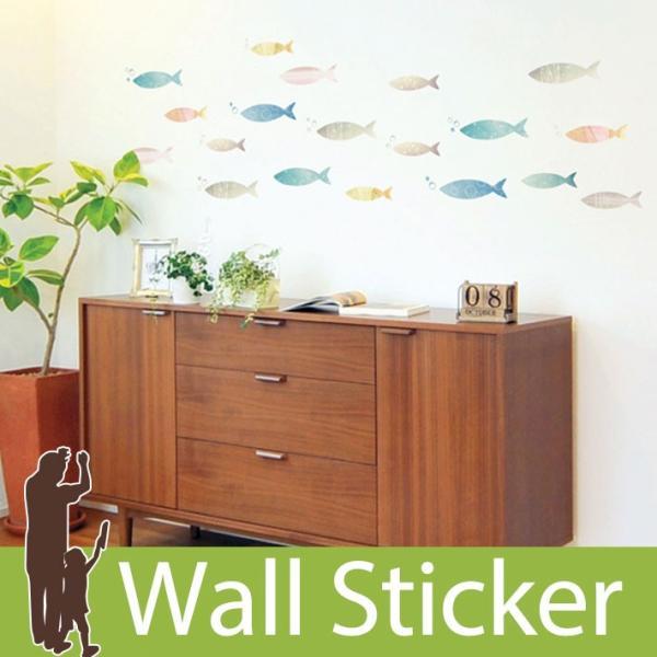 ウォールステッカー 海 魚 北欧 木 英字 壁紙 シール トイレ ウォールシール インテリア 子供部屋 動物|wallstickershop