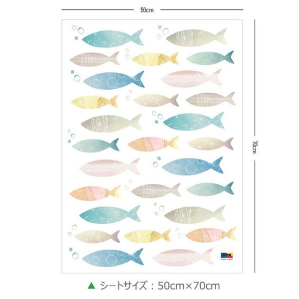 ウォールステッカー 海 魚 北欧 木 英字 壁紙 シール トイレ ウォールシール インテリア 子供部屋 動物|wallstickershop|04