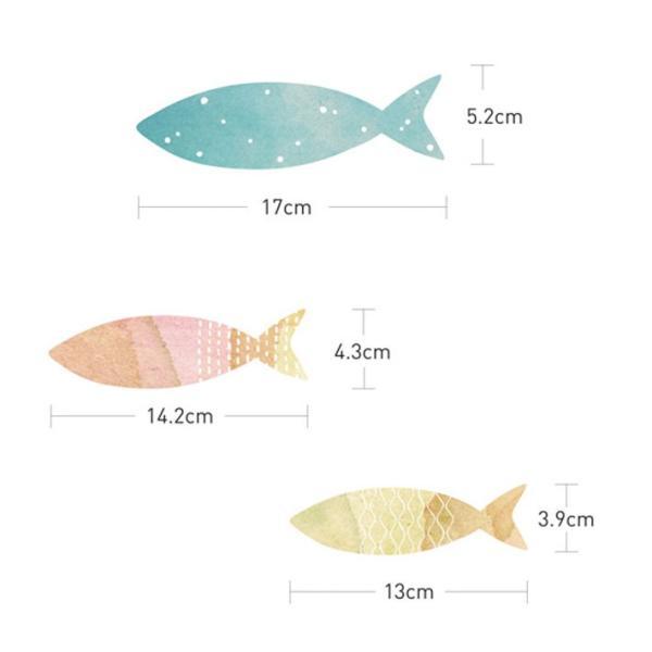 ウォールステッカー 海 魚 北欧 木 英字 壁紙 シール トイレ ウォールシール インテリア 子供部屋 動物|wallstickershop|05