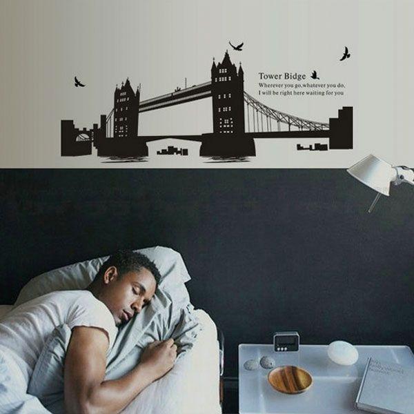ウォールステッカー 壁 北欧 タワーブリッジ 貼ってはがせる のりつき 壁紙シール ウォールシール ウォールステッカー本舗|wallstickershop|03