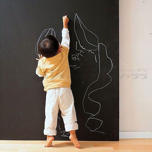 ウォールステッカー 壁 チョークボード 黒板シート 壁に貼ってはがせる黒板 貼ってはがせる のりつき 壁紙シール ウォールシール|wallstickershop|03