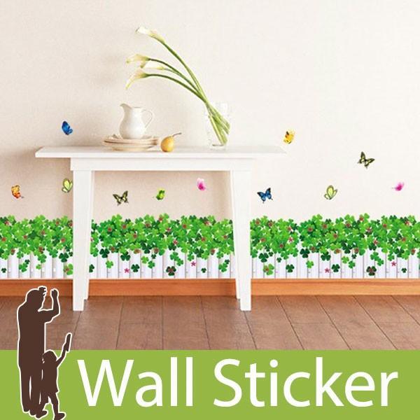 ウォールステッカー 壁 花 花壇 蝶 貼ってはがせる のりつき 壁紙シール ウォールシール 植物 木 花|wallstickershop