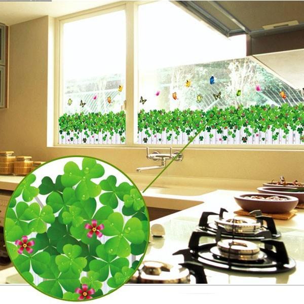 ウォールステッカー 壁 花 花壇 蝶 貼ってはがせる のりつき 壁紙シール ウォールシール 植物 木 花|wallstickershop|03