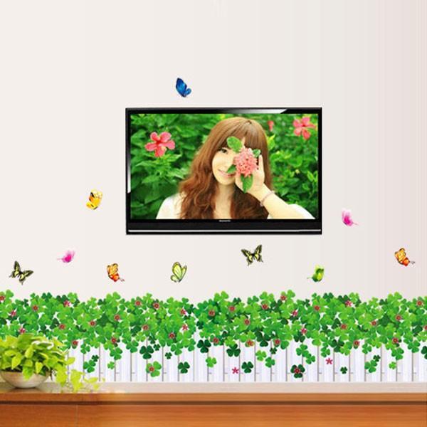 ウォールステッカー 壁 花 花壇 蝶 貼ってはがせる のりつき 壁紙シール ウォールシール 植物 木 花|wallstickershop|05