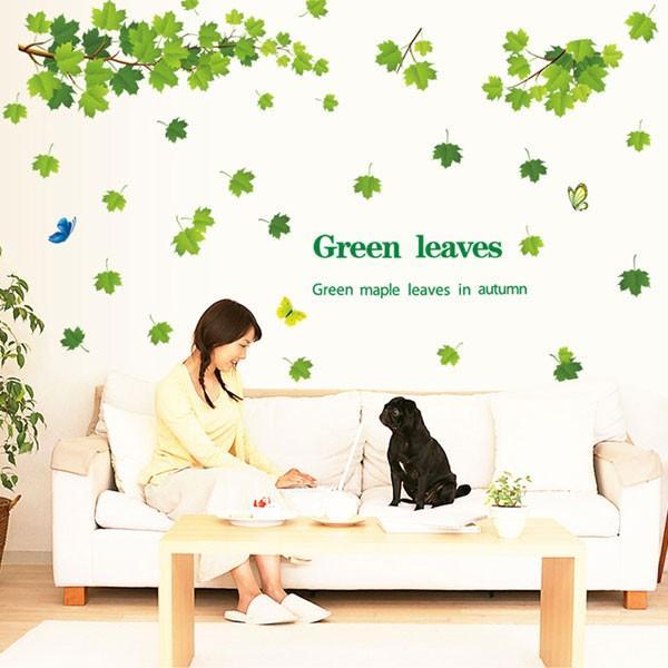 ウォールステッカー 壁 木 葉 蝶 貼ってはがせる のりつき 壁紙シール ウォールシール 植物 木 花|wallstickershop|04