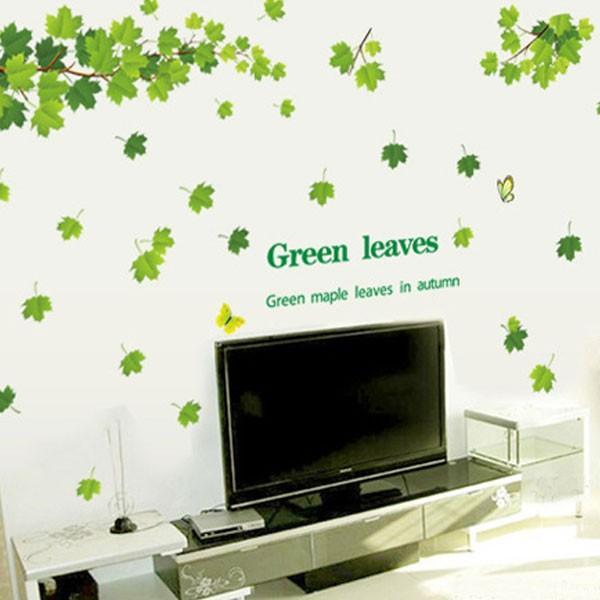 ウォールステッカー 壁 木 葉 蝶 貼ってはがせる のりつき 壁紙シール ウォールシール 植物 木 花|wallstickershop|05