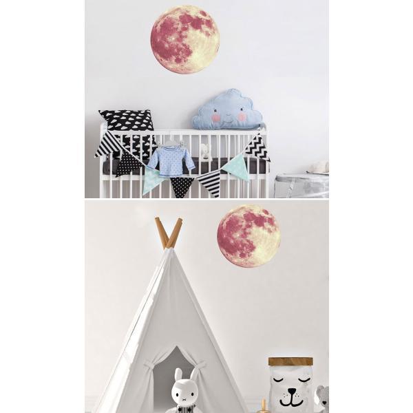 ウォールステッカー 月 蓄光 満月 ムーンライト 暗くなると光る ルミナス 光る ステッカー きれい 子供部屋 リビング インテリア シール y4|wallstickershop|10