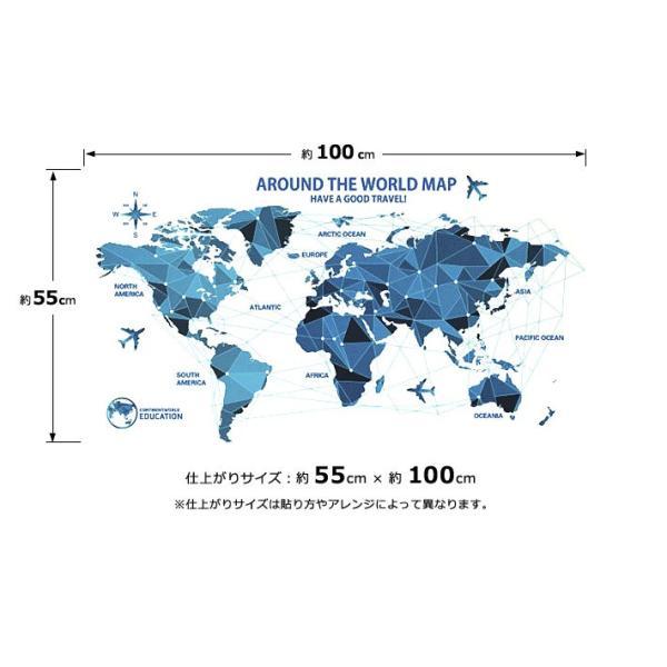 ウォールステッカー おしゃれ 北欧 モノトーン カラフル アルファベット ブラック 黒 世界地図 マップ 動物 英語 英文 シールタイプ 貼ってはがせる wallstickershop 11