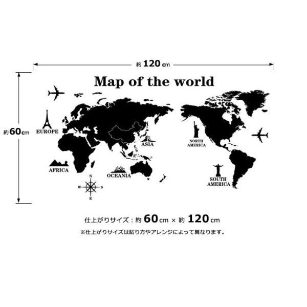 ウォールステッカー おしゃれ 北欧 モノトーン カラフル アルファベット ブラック 黒 世界地図 マップ 動物 英語 英文 シールタイプ 貼ってはがせる wallstickershop 03