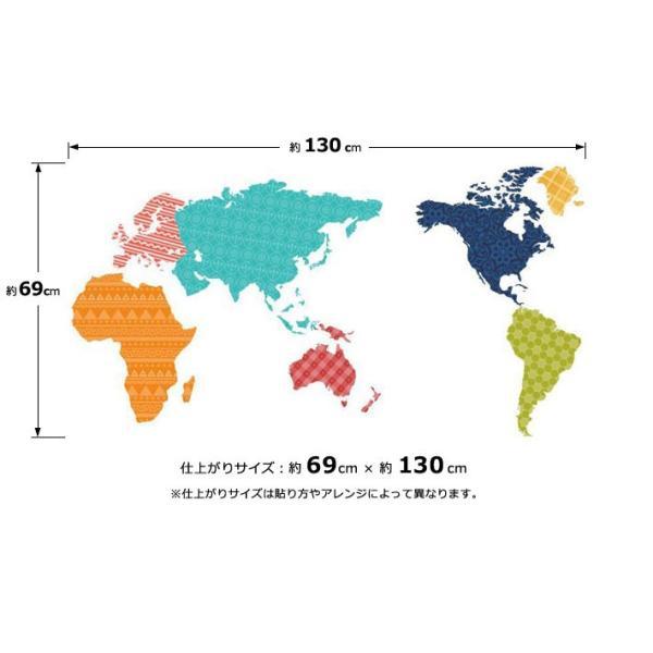 ウォールステッカー おしゃれ 北欧 モノトーン カラフル アルファベット ブラック 黒 世界地図 マップ 動物 英語 英文 シールタイプ 貼ってはがせる wallstickershop 07