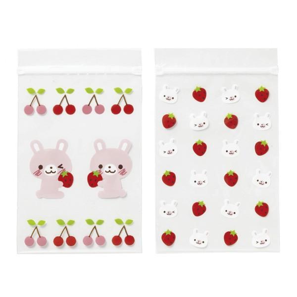 (まとめ買い)トルネ プリントチェック袋 うさぎ 8枚入×20|wamonogram