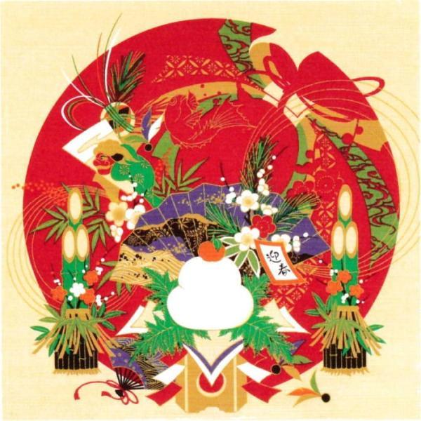 風呂敷 おしゃれ 和柄 50cm お正月 鏡餅飾り タペストリー 日本製 お土産 和風 和物屋