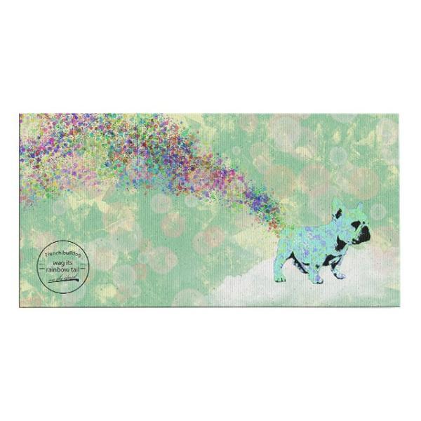 【wag its rainbow tail】 フレンチブルドッグ Sサイズ ワンにゃんアートキャンバス Mizutama series (絵画/アートパネル/犬)|wan-nyan-gallery|02