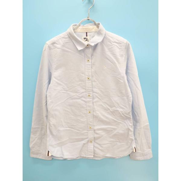 arnoldpalmertimeless(アーノルドパーマータイムレス)刺繍シャツ長袖青/白レディースAランク3 委託倉庫から出