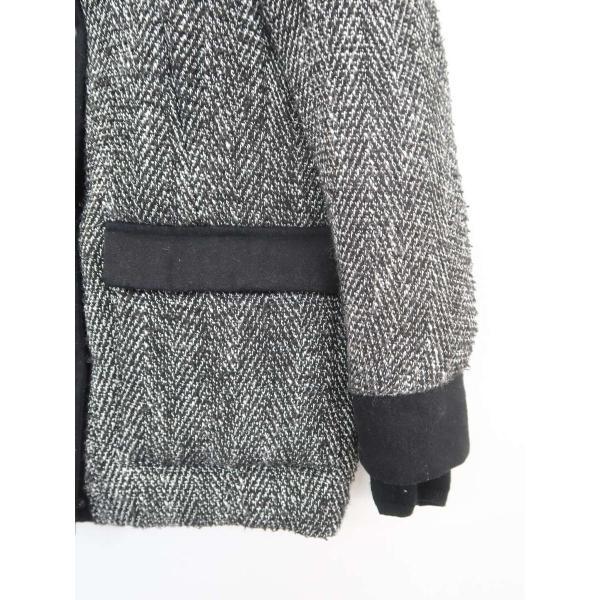 SLY(スライ)ツイード中綿ダウンコート 長袖 黒/白 レディース Bランク 1 wanboo 03
